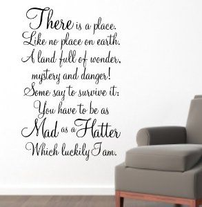 ALWAYS TIME FOR TEA ALICE IN WONDERLAND WALL DECAL   Google Search Part 81