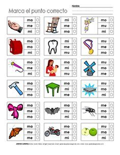 Silabas En Español Para Imprimir | ... la hoja de trabajo para descargarla en formato PDF y para imprimirla