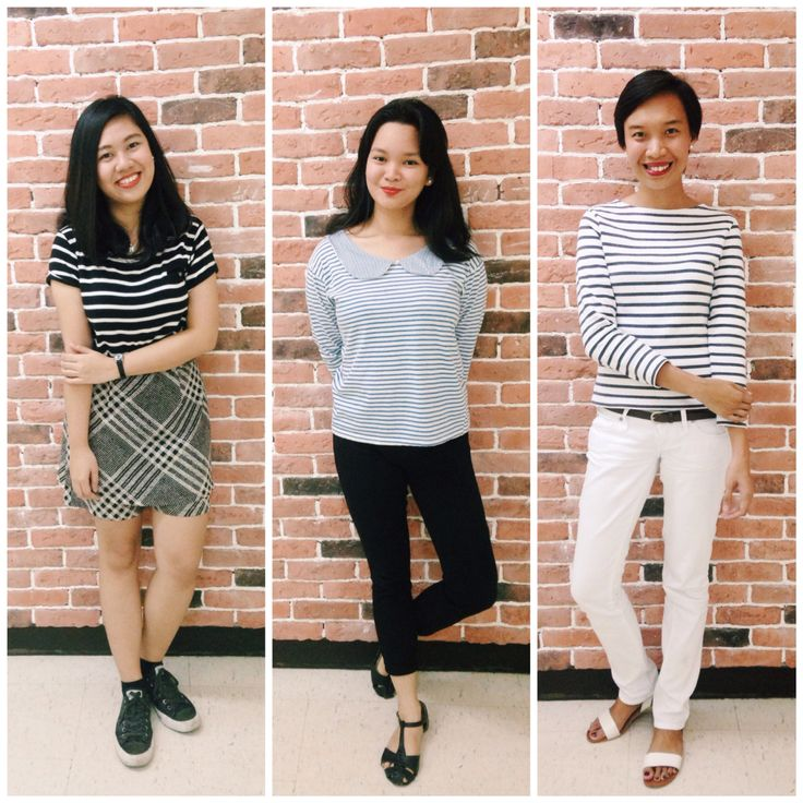 Wear your stripes.  #dressupday #Friday #office #outfit #stripes #blacknwhite