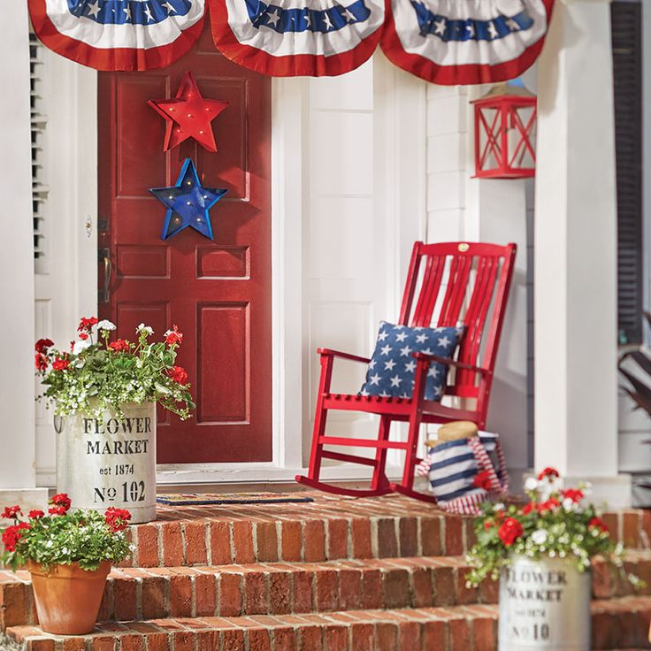 233 Best Red White And Blue Decorating Images On Pinterest