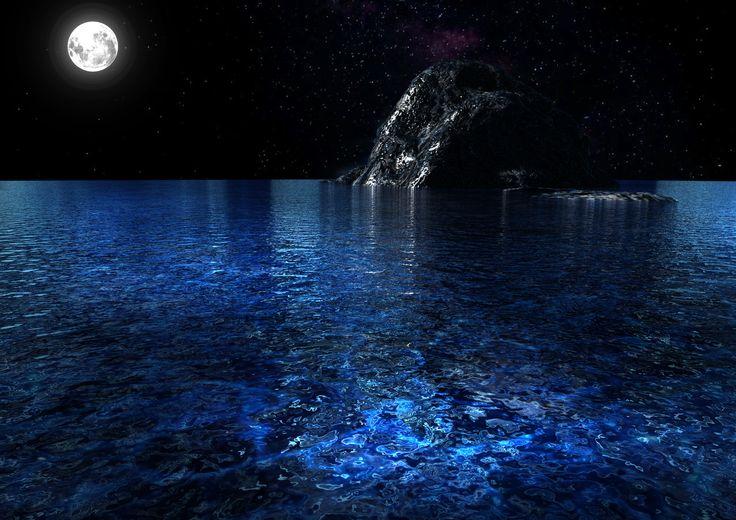 배경그래픽 / 3ds max로 만든 가상 바다입니다. (밤)