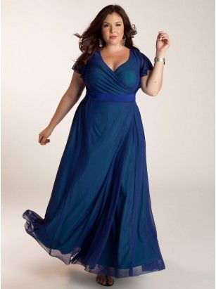 "Letta Plus Size Dress in Blue, igigi.com, $175. The true wrap-around silhouette can be adjusted with ties to achieve your desired coverage Adjustable 2.5"" self ties cinch in the waist for a flattering fit Set-in flutter sleeves Curve-skimming, A-line skirt Mesh with contrast lining Color:  Blue Material:  Poly/Elastane Care:  Hand Wash in Cold Water or Dry Clean Sku:  3A407GBLU"