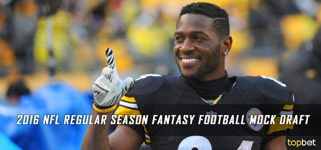 2016 NFL Regular Season Fantasy Football Mock Draft