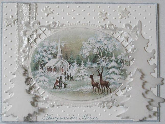 Hallo Allemaal        Deze week laat ik jullie een eenvoudig te maken kerstkaart zien.      Gebruikte materialen:  Als basis de embossin...