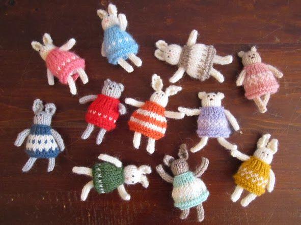 el botonsin: Mini-mini coniglietti e orsetti Mini coniglietti e...