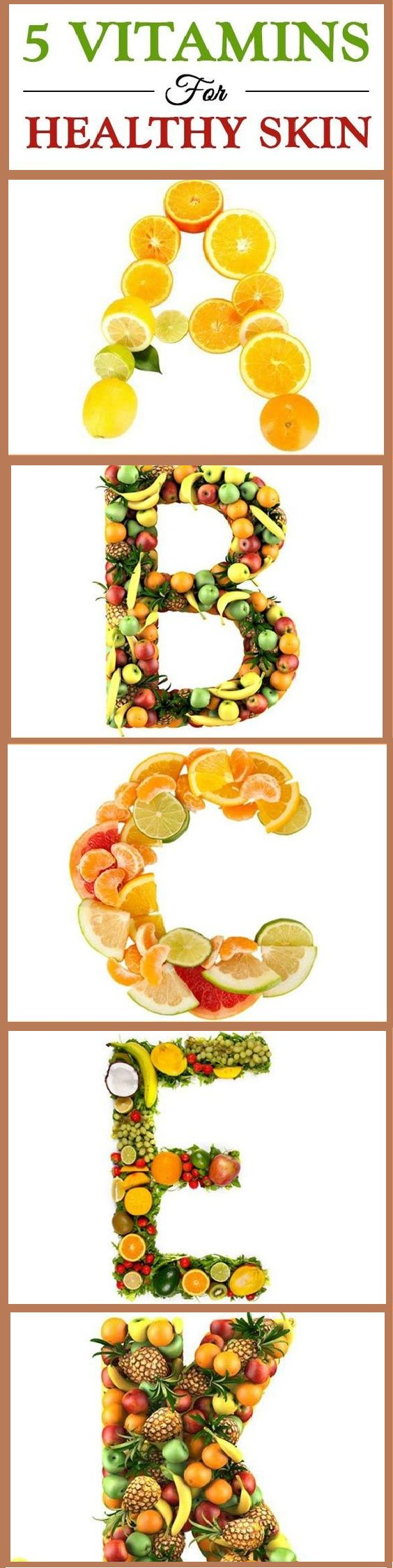 Five Best Essential Vitamins For Healthy Skin Vitamins are necessary for your health and at the risk of repeating it your health become so beautiful.