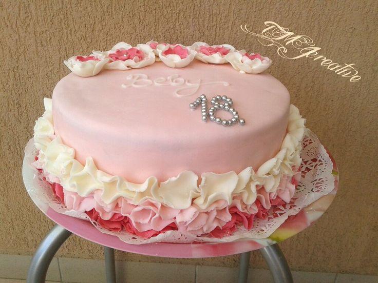 #TMJcreative #birthdaycake #pinkflowers