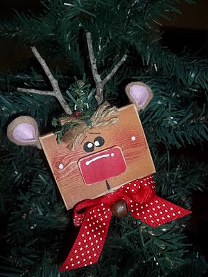Craft Goodies: Mini Block Head Ornaments {and a peek at my other exchange ornaments}!!!