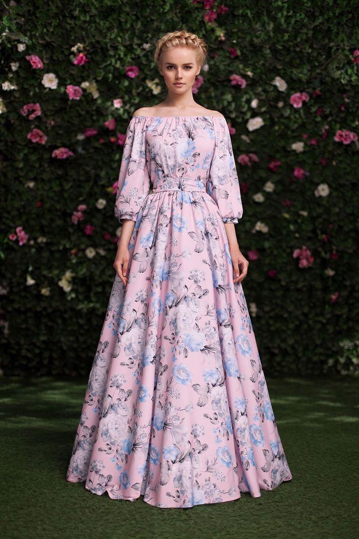 Платье «Маруся» голубые цветы — 19 990 рублей