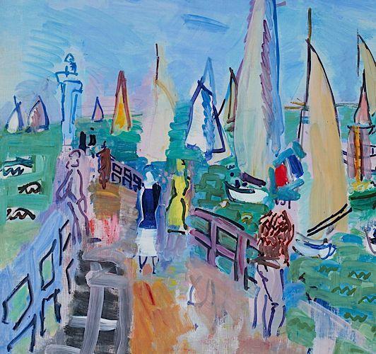 raoul+dufy | Raoul Dufy (1877-1953), Régates à Deauville