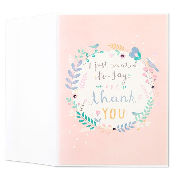 wedding thank you cards time limit%0A Floral Wreath Thank You Card