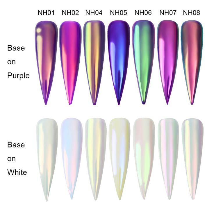 $2.99 0.2g BORN PRETTY Chameleon Neon Unicorn Mirror Powder Nail Mermaid Chrome Pigment Powder - BornPrettyStore.com