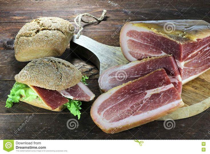 Italian Dry-cured Ham Stock Photo - Image: 72830124