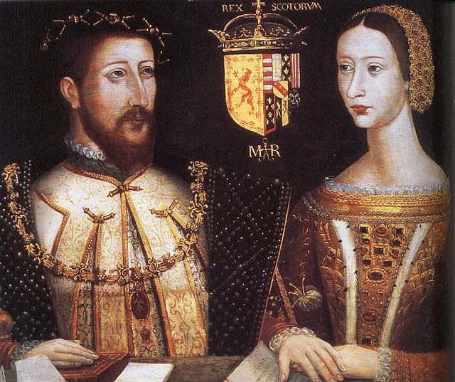 James V de Escocia, hijo de Margaret Tudor, y la Reina María de Guisa, los padres de María, Reina de Escocia