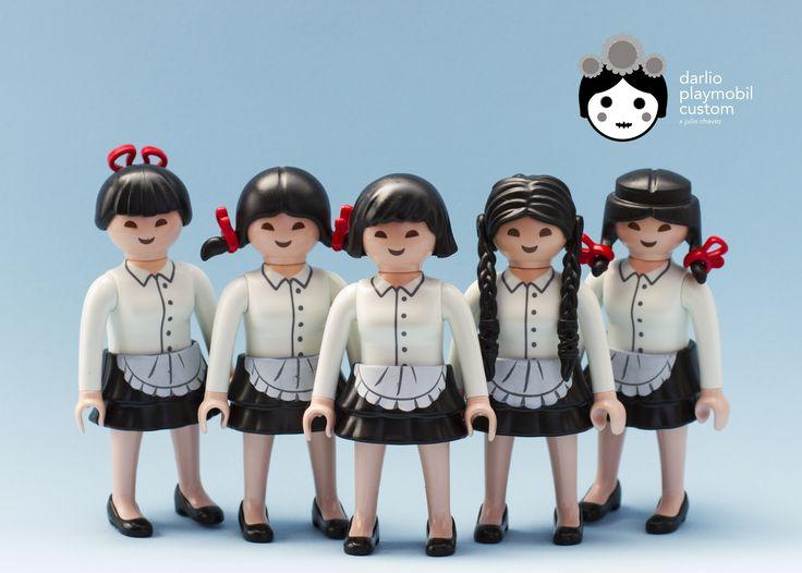 Irasshaimasen Maid Cafe Staff Playmobil Custom