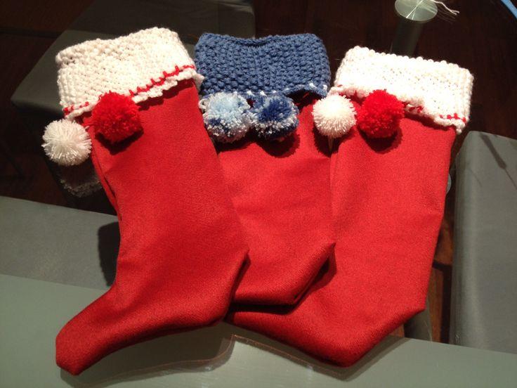 Calze befana con risvoltino in maglia