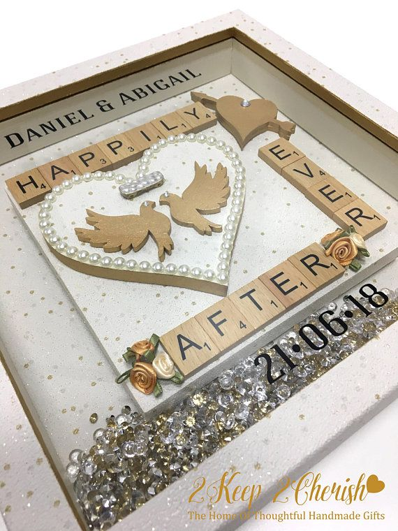 Wedding gift personalised present for the happy couple Unusual item