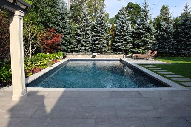 Swimming Pool Sidewalks : Outdoor cool backyard design ideas with square