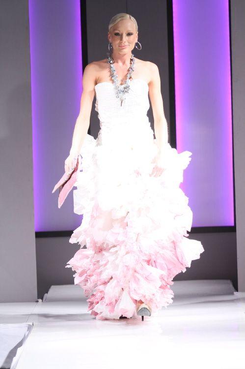 Wedding Dress made form Tissues #hoskindesigns #wedding #bridal #gown #dress #art #creative
