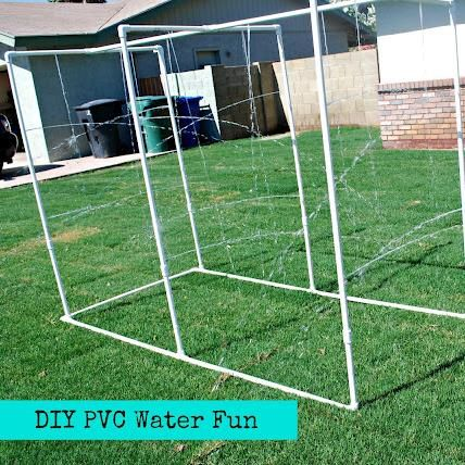 easy diy pvc water fun for the kids