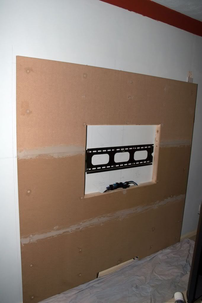 How to build a floating wall with TV mount  DIY Home in