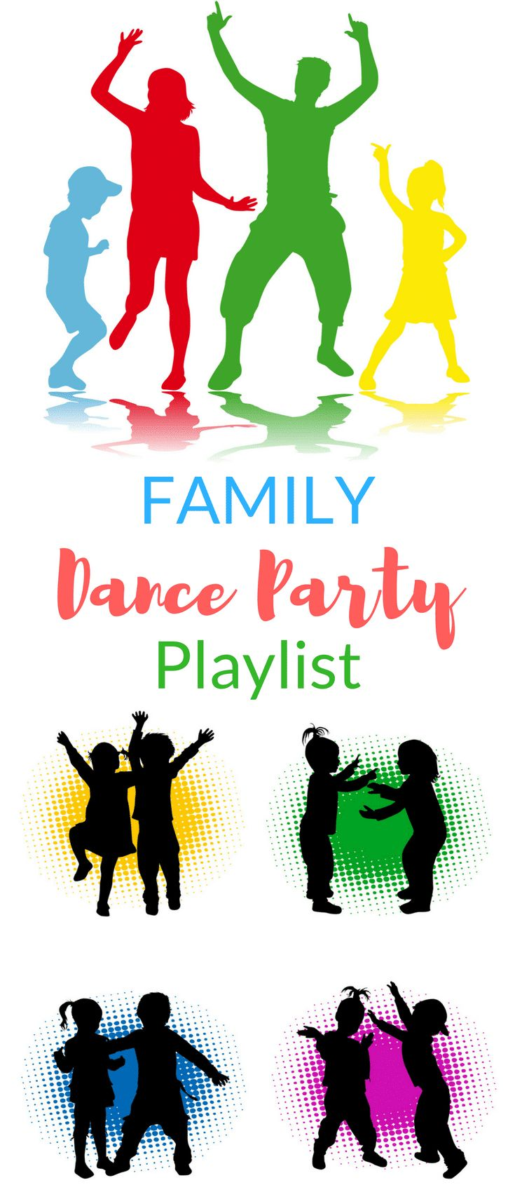 Family Dance Party Playlist Dance party kids, Party