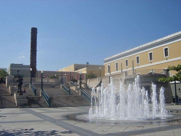 Centro da cidade na ilha de San Juan, em Porto Rico