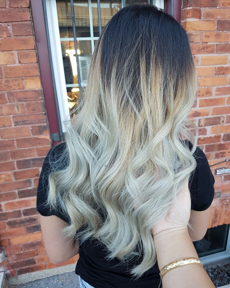 Asianhair Ombre Ashblonde Highcontrast Balayage Sussyxos Pinterest Blonde High