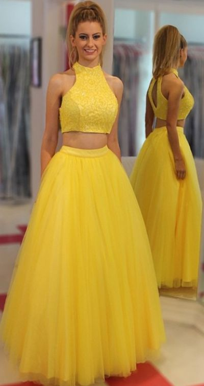 Yellow A-line/Princess Prom Dresses, Yellow Prom Dresses, A-line/Princess Prom Dresses, Long Prom Dresses, Cheap Prom Dresses, Two Piece Dresses, Prom Dresses Cheap, Two Piece Prom Dresses, Cheap Long Prom Dresses, Cheap Long Dresses, Prom Dresses Long, Long Dresses Cheap, Long Yellow dresses, Tulle Prom Dresses, Cheap Yellow Dresses, Yellow Long dresses, Long Prom Dresses Cheap, High Neckline dresses, Prom Dresses Cheap Long, Prom Long Dresses