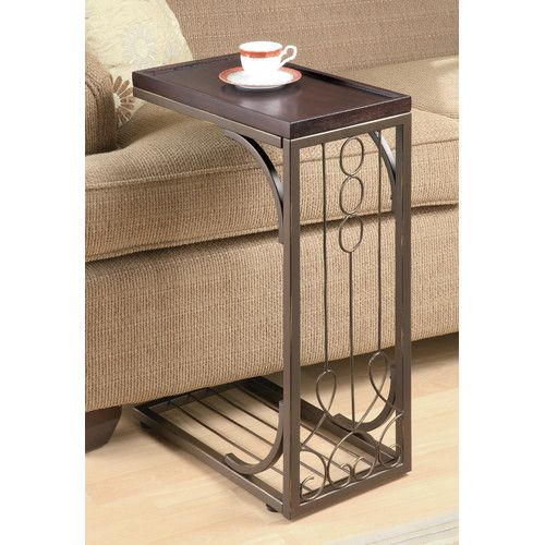 Found it at Wayfair - Echyngham Tray Top End Table in Brown and Burnished Brown