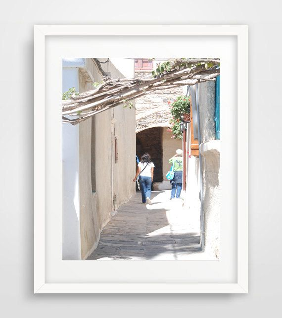 Naxos street print Greece photography greek islands printable Medieterranean travel digital bathroom wall art home living room office decor by Ikonolexi on Etsy