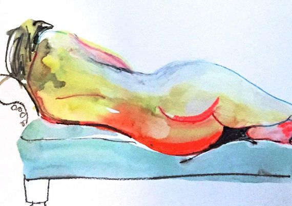 Nude painting 1494 original by Gretchen Kelly