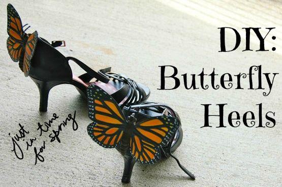 DIY Tutorial: Artsy & Bold Butterfly Heels
