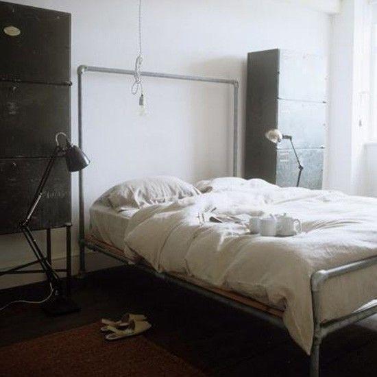 Industrial bedroom | Bedroom idea | Lamp | Image | Housetohome.co.uk