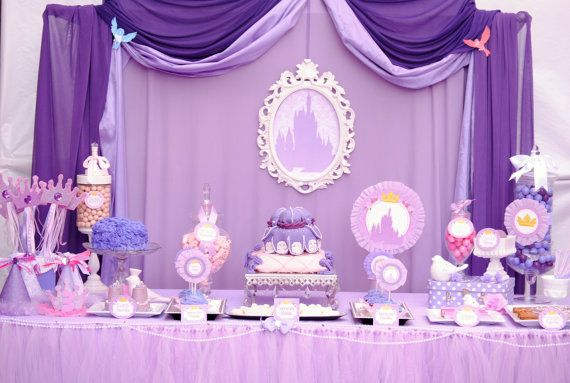 SOFIA Party - Disney Princess Party - Sofia the First Party - Mini Party - Girls Birthday - Woman - Bridal Shower - Purple Princess Party on Etsy, $12.00