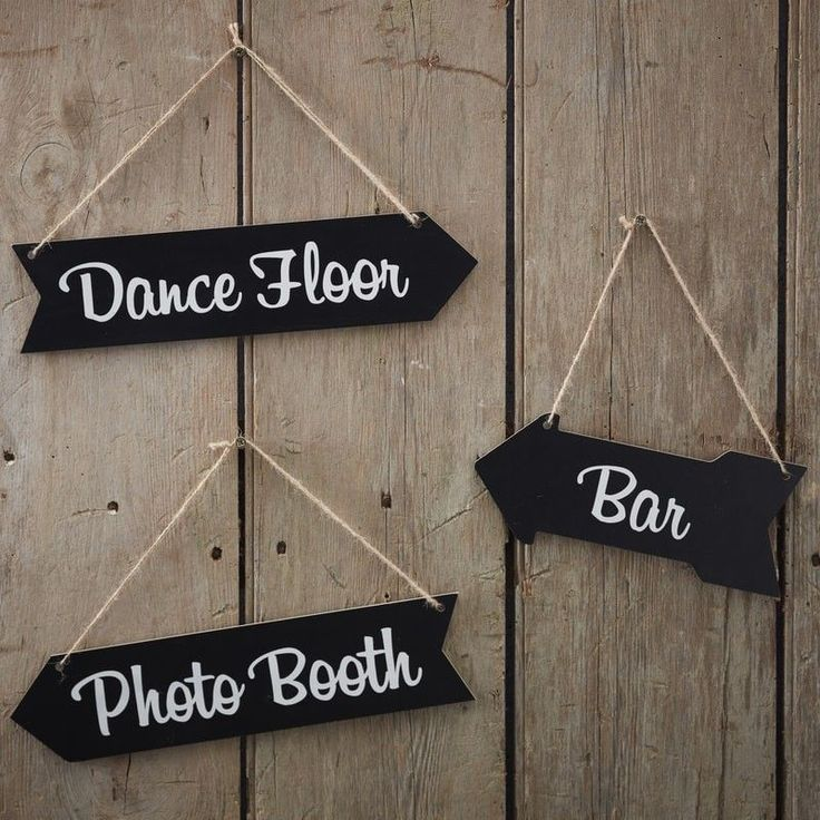 These gorgeous chalkboard hanging arrow signs are perfect to decorate any party or wedding venue Direct and join your guests on the dance floor bar