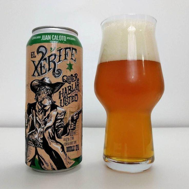 """Juan Caloto El Xerife quer Hablar con Usted - Como não se identificar com os rótulos e o carisma das cervejas da Juan Caloto? Nas artes geralmente temos desenhos estilo cartoon que dão ao rótulo a cara da cervejaria! Uma curiosidade é que os desenhos são feitos pelo Marcelo Bellintani (aka Calote) um dos fundadores da cervejaria.  A """"El Xerife quer Hablar con Usted"""" é uma Double IPA do estilo West Coast com 82% ABV 77 IBU e uma taxa de 26 gramas de lúpulo por litro garantindo os tradicionais…"""