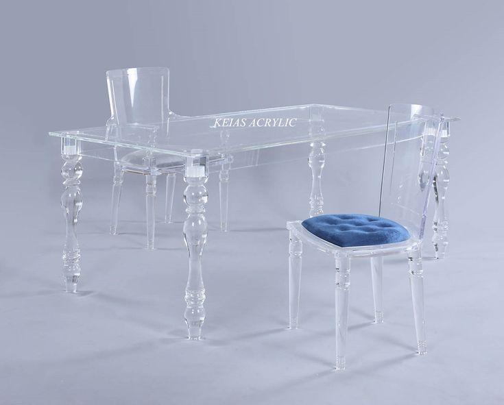 Acrylic coffee table and chair  Acrylic furniture #Keias Acrylic#