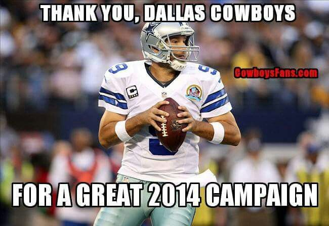 Thank You Dallas Cowboys -2014 Division Champions Yeah! Cowboys Run The East. Let's do it again this year (2016)