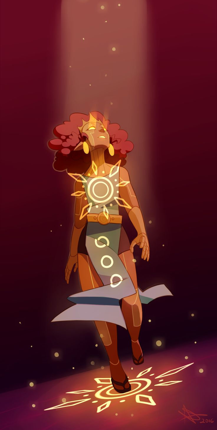 - of the sun - / She looks like the Aztec version of the princess from the Disney Atlantis movie.