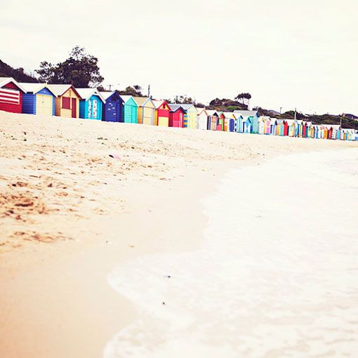 bathing boxes at brighton beach by pinecone camp. used to be my local beach, even had wedding pictures there! i miss it.