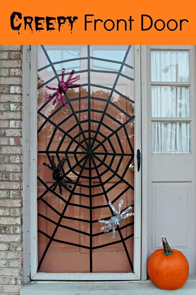 DIY Spider Web Front Door