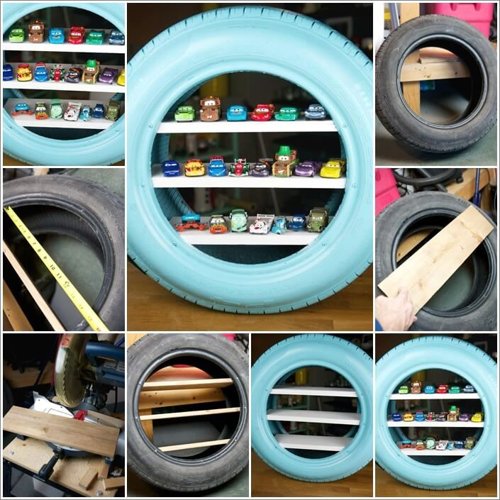 Make toy shelves from an old tire 1 what to do with old for What to do with old tires