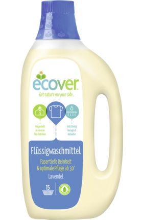 Das flüssige ECOVER Waschmittel eignet sich für fasertiefe Reinheit bereits ab 30 Grad. Ohne Bleiche und ohne optische Aufheller. Das Waschmittel ist derma...