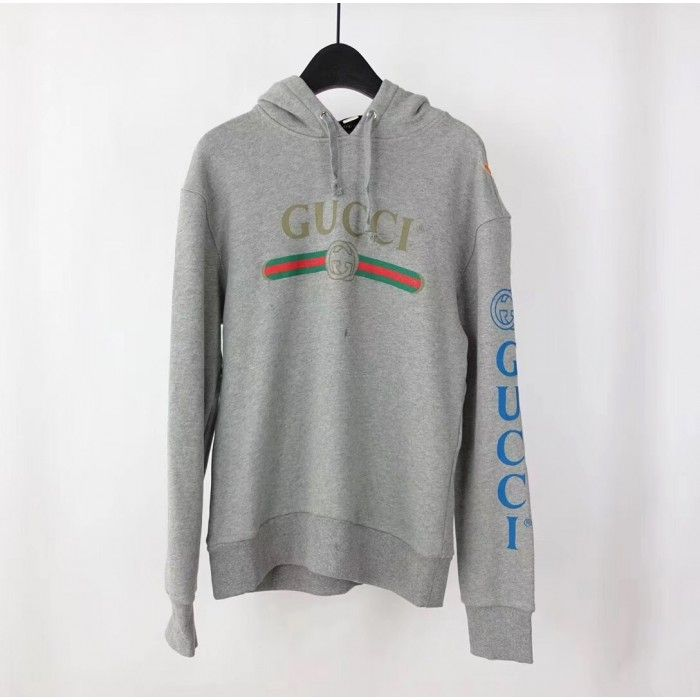 0682841f39 Gucci logo sweatshirt with dragon grey 475374 X9V46 in 2019 ...