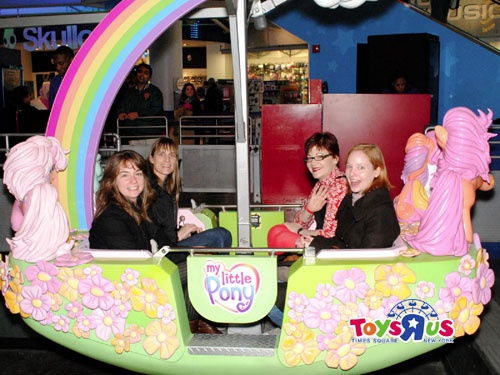 Brainstorming on the ferris wheel at Toys R Us. Thx My Little Pony