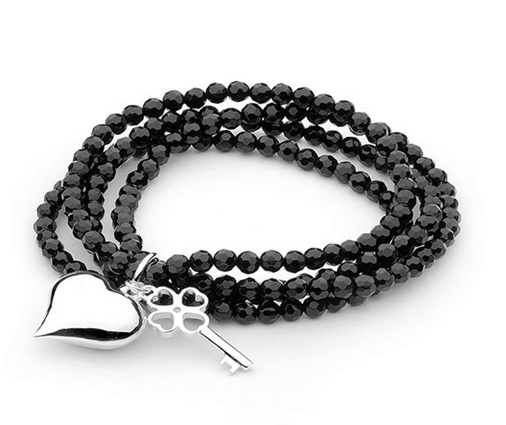 Simple but elegant, this Ellani Sterling Silver Black Bracelet is the perfect match for any outfit.  Available to purchase online now! http://victoriandiamondtraders.com.au/product/1520/.UkoWkYZi3EI