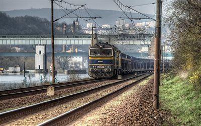 Scarica sfondi ferrovia, locomotiva, repubblica ceca