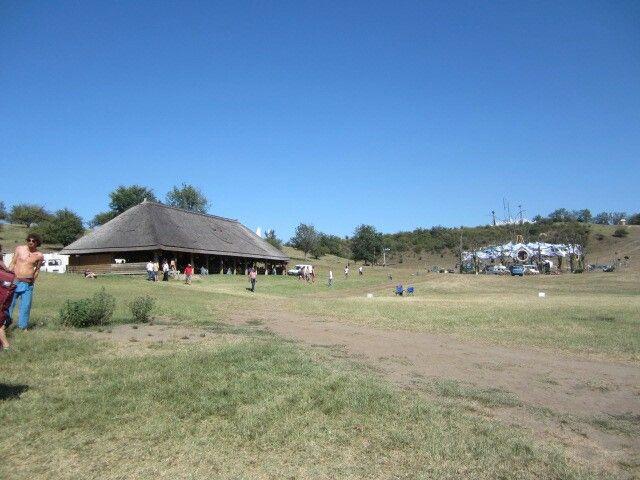'Ozora festival' Peacefull view of the bar and dancefloor