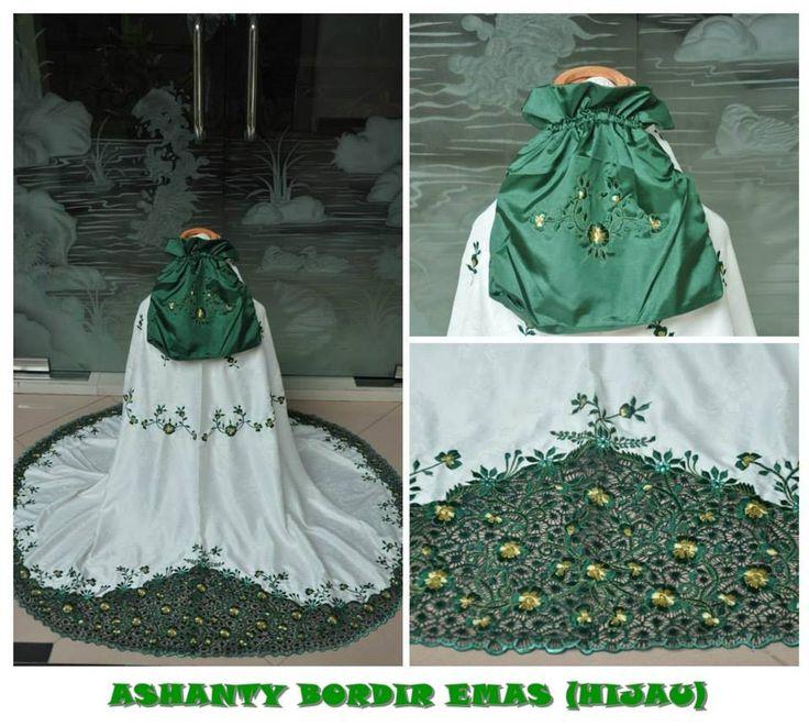 Ashanty Bordir Emas Bahan: Semi Sutera Set : Mukena & Tas 085855741030 only sms